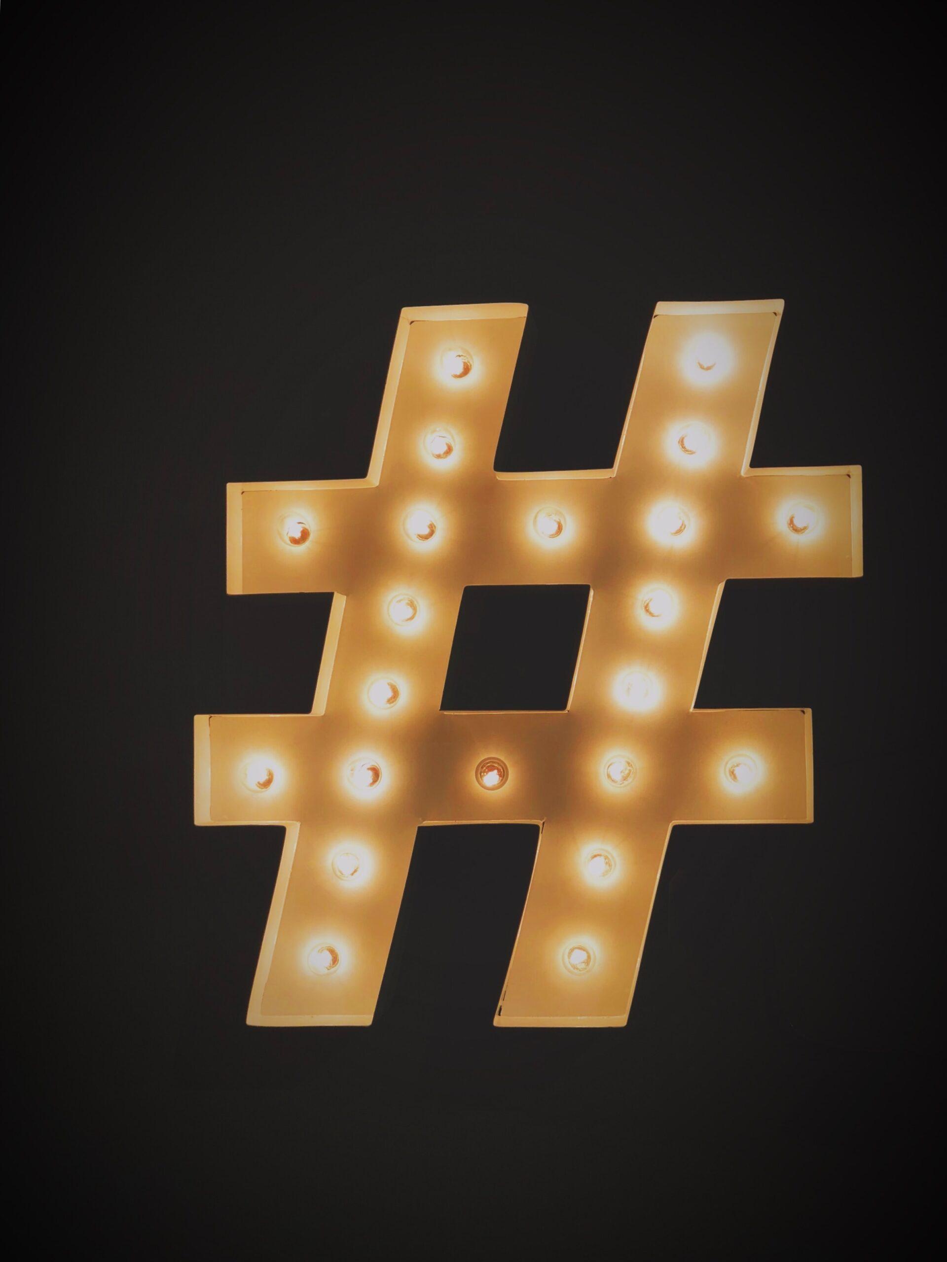 social media marketing  hashtag